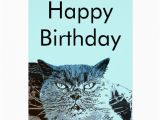 British Birthday Cards British Blue Cat Birthday Card Zazzle