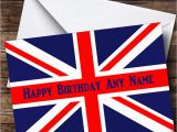 British Birthday Cards British Flag Union Jack Personalised Birthday Greetings