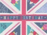 British Birthday Cards Happy Birthday Card British Flag Hope and Glory