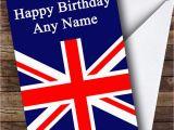 British Birthday Cards Union Jack British Flag Personalised Birthday Greetings