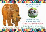 Brown Bear Brown Bear Birthday Party Invitations Brown Bear Birthday Party Invitation by Cutecreationsshoppe