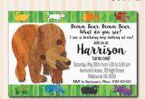 Brown Bear Brown Bear Birthday Party Invitations Brown Bear Brown Bear Invitation Available In 4×6 or