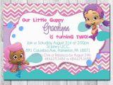 Bubble Guppie Birthday Invitations Bubble Guppies 39 Invitation Emma 39 S 1st Birthday