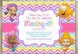 Bubble Guppie Birthday Invitations Bubble Guppies Birthday Invitation Chevron Birthday