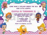 Bubble Guppies Birthday Invitations Template Bubble Guppies Invitation Templates Free