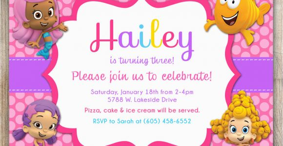 Bubble Guppies Birthday Invitations Template Free Printable Bubble Guppies Birthday Invitations