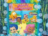 Bubble Guppy Birthday Decorations Bubble Guppies Balloon Scene Setter Idea Party City