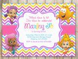 Bubble Guppy Birthday Invitations Bubble Guppies Birthday Invitation Chevron Birthday
