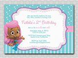 Bubble Guppy Birthday Invitations Bubble Mermaids Guppies Fish Birthday Invitation Digital 5×7