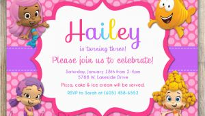 Bubble Guppy Birthday Invitations Free Printable Bubble Guppies Birthday Invitations