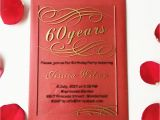 Bulk Birthday Invitations Customized 100pcs Per Lot 5x7inch Clear Acrylic 60th