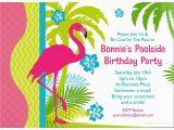 Bulk Birthday Invitations Flamingo Personalized Invitation Each wholesale
