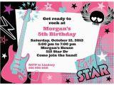 Bulk Birthday Invitations Rock Star Girl Personalized Invitation Each Discount