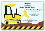Bulldozer Birthday Invitations Bulldozer Birthday Invitations Clearance Paperstyle