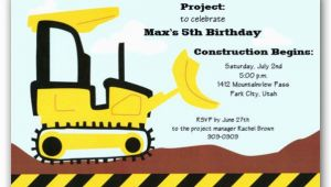 Bulldozer Birthday Invitations Bulldozer Birthday Invitations Clearance Paperstyle