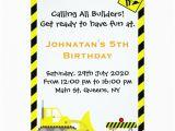 Bulldozer Birthday Invitations Bulldozer Construction Birthday Invitations Zazzle