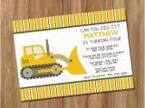 Bulldozer Birthday Invitations Bulldozer Truck Dump Truck Birthday Party Invitation