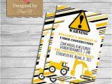 Bulldozer Birthday Invitations Construction Birthday Invitation Printable Party Invite Dump