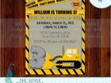 Bulldozer Birthday Invitations Construction Bulldozer Birthday Party by thelittlepeacockshop