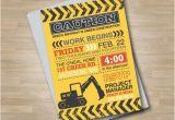 Bulldozer Birthday Invitations Construction Site Invitation Builder Birthday Bulldozer