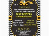 Bulldozer Birthday Invitations Contruction Bull Dozer Birthday Invitation Zazzle