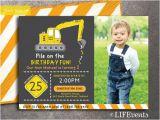 Bulldozer Birthday Invitations Yellow Bulldozer Construction Birthday Invitation by Lifevents