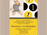 Bumble Bee 1st Birthday Invitations Bumble Bee Birthday Party Invitations 1st Birthday