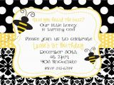 Bumble Bee 1st Birthday Invitations Bumble Bee Birthday Party or Baby Shower Invitation