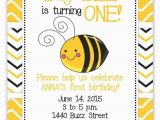 Bumble Bee 1st Birthday Invitations Bumble Bee Invite Honey Bee Invitation First Birthday