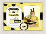 Bumble Bee 1st Birthday Invitations First Birthday Invitation Yellow Bee Girls 1st Birthday
