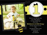 Bumblebee Birthday Invitations Bumble Bee Birthday Party Invitations Printable or Printed