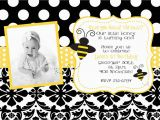 Bumblebee Birthday Invitations Bumble Bee Birthday Party or Baby Shower Invitation Digital