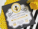 Bumblebee Birthday Invitations Bumble Bee Party Invitations