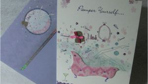 Burgoyne Birthday Cards Burgoyne Handmade Pamper Yourself Birthday Greeting Card
