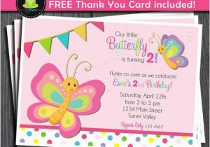 Butterfly Birthday Invitation Wording By Foreveryourprints