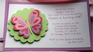 Butterfly Birthday Invitation Wording Kt Designs Birthday Series butterfly Birthday Party