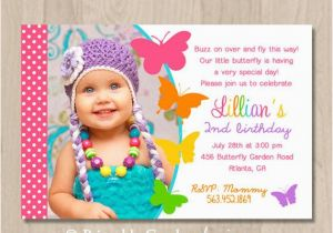 Butterfly First Birthday Invitations Invites Free