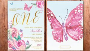 Butterfly First Birthday Invitations butterfly First Birthday Invitation butterflies 1st