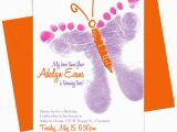 Butterfly themed Birthday Invitations Bit O Me butterfly Birthday Feet the Invitation