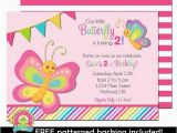 Butterfly themed Birthday Invitations butterfly Birthday Invitation Girls butterfly Party
