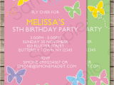 Butterfly themed Birthday Invitations butterfly Party Invitations Template Birthday Party
