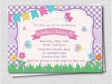 Butterfly themed Birthday Invitations butterfly themed Birthday Invitation Spring by