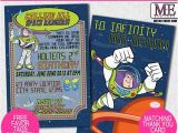 Buzz Lightyear Birthday Invitations Buzz Lightyear Birthday Invitations toy Story Invitations