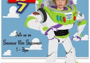 Buzz Lightyear Birthday Invitations Buzz Lightyear Birthday Party Invitation Personalized with