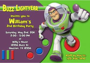 Buzz Lightyear Birthday Invitations Buzz Lightyear Invitations General Prints
