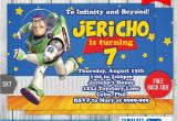 Buzz Lightyear Birthday Invitations Buzz Lightyear toy Story Birthday Invitation by