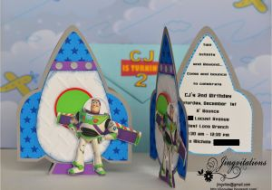 Buzz Lightyear Birthday Invitations Rocketship Jingvitations