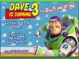 Buzz Lightyear Birthday Invitations toy Story Birthday Invitation Kustom Kreations
