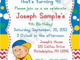 Caillou Birthday Invitations 8 Best Images About Caillou Birthday Party Ideas On Pinterest