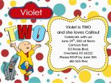 Caillou Birthday Invitations Caillou Birthday Invitation Boy or Girl by Kraftykansas On